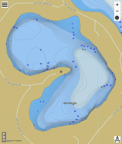 Little Twin Lake Fishing Map - i-Boating App