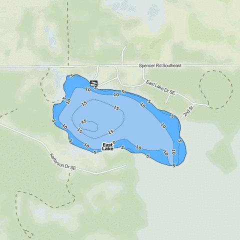 East Lake Fishing Map - i-Boating App