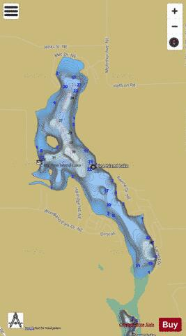 Big Pine Island Lake Fishing Map - i-Boating App