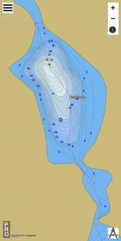 Banks Lake Fishing Map - i-Boating App