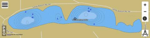 Sandbottom Lake Fishing Map - i-Boating App
