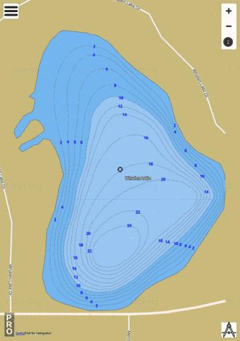 Whalen Lake Fishing Map - i-Boating App