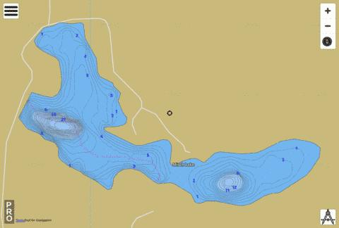 Misch Lake Fishing Map - i-Boating App
