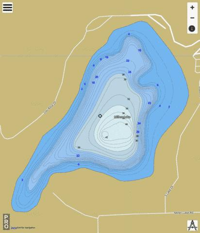 Millers Lake Fishing Map - i-Boating App