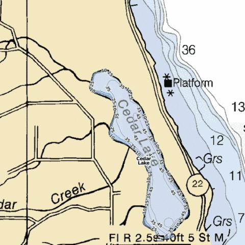 Cedar Lake Fishing Map Us Mi 45 1 Nautical Charts App