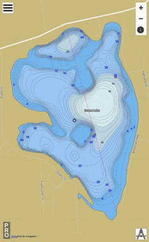 Evans Lake Fishing Map - i-Boating App