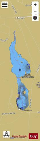 Chilson Impoundment Fishing Map - i-Boating App