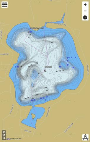 Ore Lake Fishing Map - i-Boating App