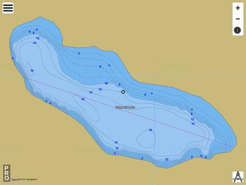 Turnbull Lake Fishing Map - i-Boating App