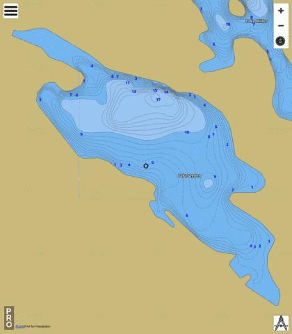 Ogden, Lake Fishing Map - i-Boating App