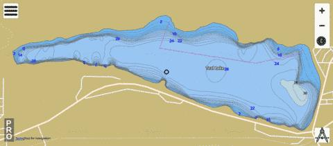 Teal Lake Fishing Map - i-Boating App