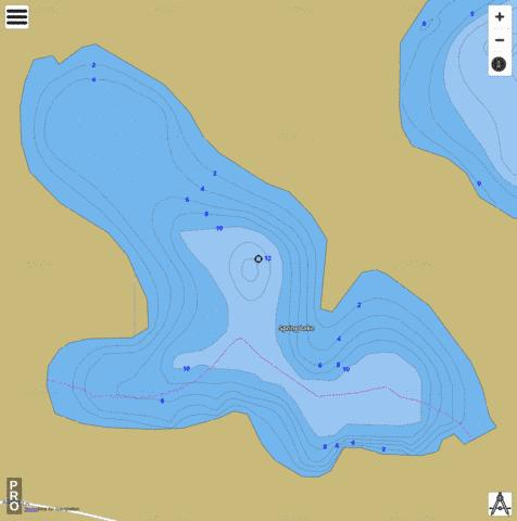 Spring Lake Fishing Map - i-Boating App