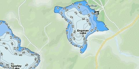 Engman Lake Fishing Map - i-Boating App