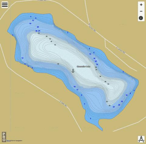 Chancellor Lake Fishing Map - i-Boating App