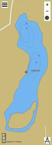 Casin Lake Fishing Map - i-Boating App