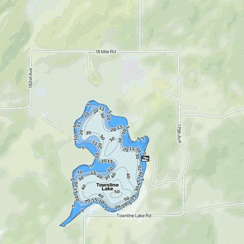 Townline Lake Fishing Map - i-Boating App