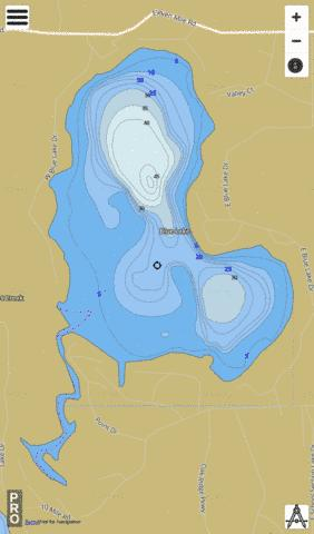 Blue Lake Fishing Map - i-Boating App