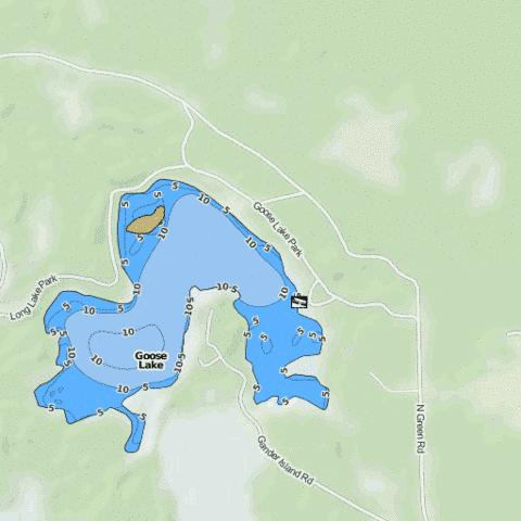 Goose Lake Fishing Map - i-Boating App