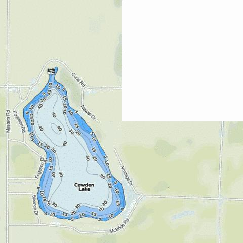 Cowden Lake Fishing Map - i-Boating App