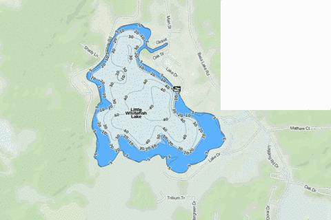 Little Whitefish Lake Fishing Map - i-Boating App