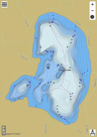 Whitefish Lake Fishing Map - i-Boating App
