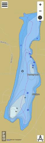 Ben-way Lake Fishing Map - i-Boating App