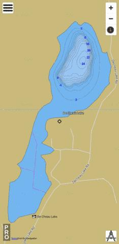 De Cheau Lake Fishing Map - i-Boating App
