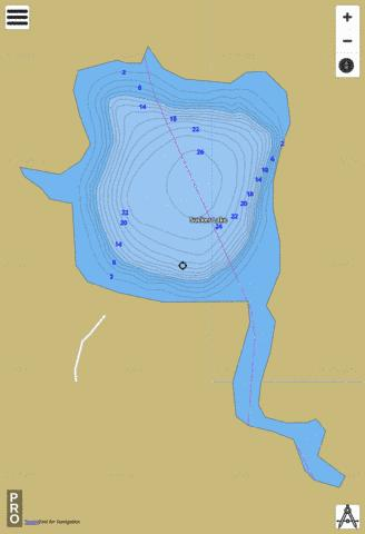 Sucker Lake Fishing Map - i-Boating App