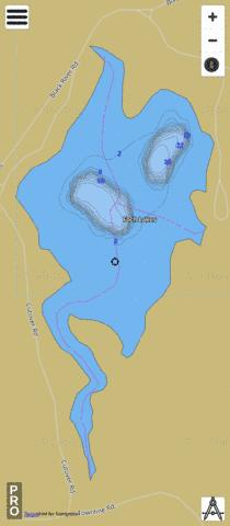 Foch Lakes Fishing Map - i-Boating App