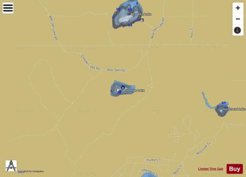 Little Joe Lake Fishing Map - i-Boating App