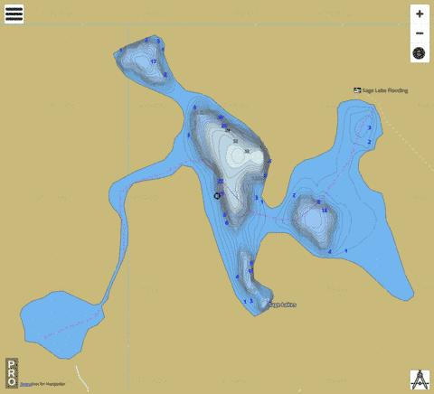 Sage Lakes Fishing Map - i-Boating App