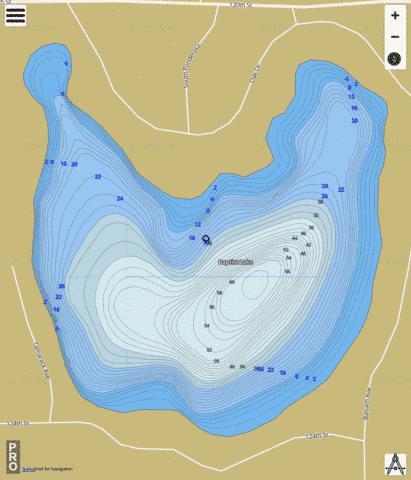 Baptist Lake Fishing Map - i-Boating App