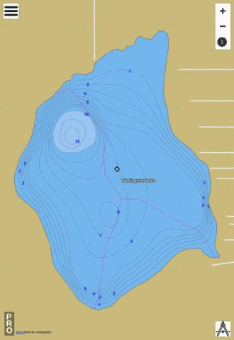 Webinguaw Lake Fishing Map - i-Boating App