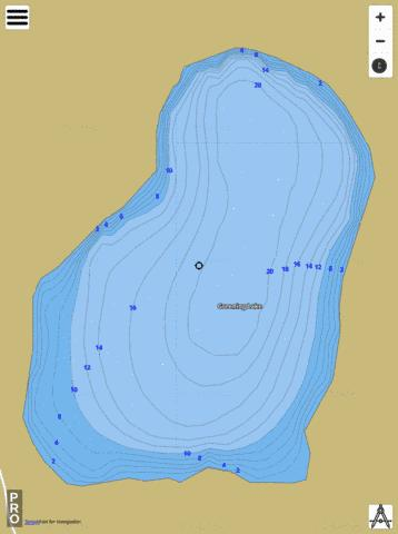 Greening Lake Fishing Map - i-Boating App