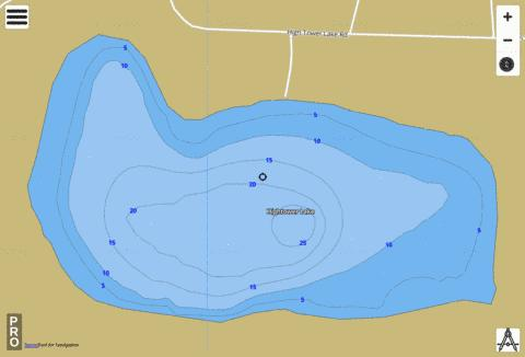 Hightower Lake Fishing Map - i-Boating App