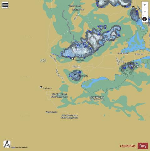 Jewett Lake Fishing Map - i-Boating App