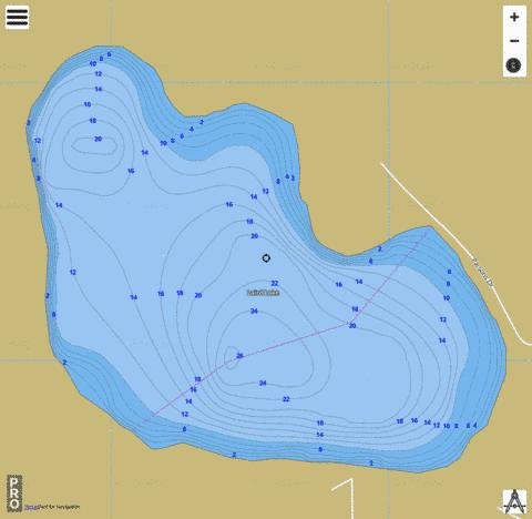 Laird Lake Fishing Map - i-Boating App