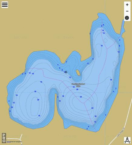 Feeding Ground Lake Fishing Map - i-Boating App