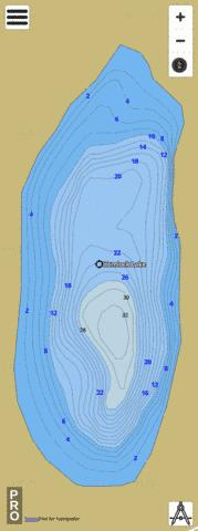 Hemlock Lake Fishing Map - i-Boating App