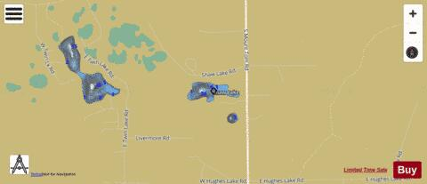 Shaw Lake Fishing Map - i-Boating App