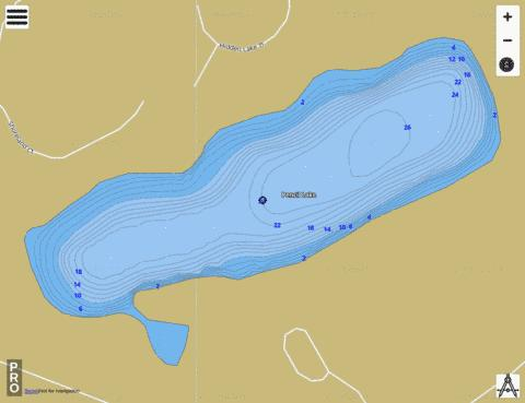 Pencil Lake Fishing Map - i-Boating App