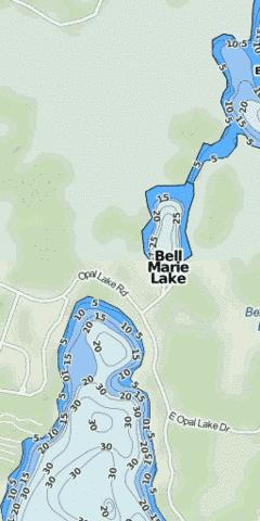Bell Marie Lake Fishing Map - i-Boating App