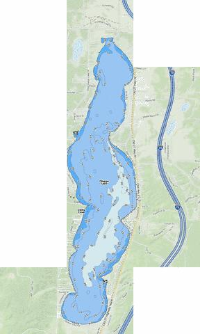 Otsego Lake Fishing Map - i-Boating App