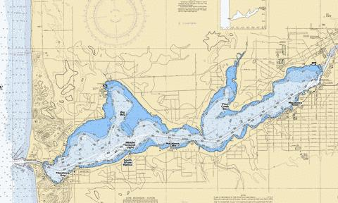 Macatawa, Lake Fishing Map - i-Boating App