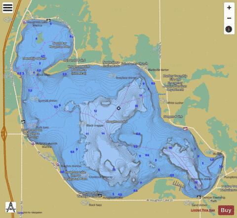 houghton lake depth chart Dolapmagnetbandco