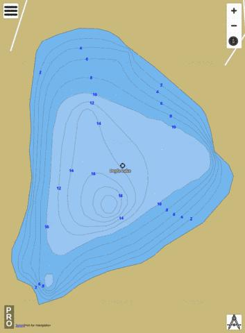 Doyle Lake Fishing Map - i-Boating App