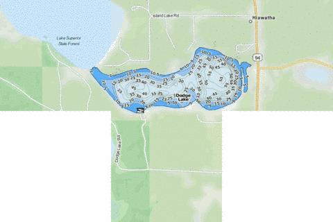 Dodge Lake Fishing Map - i-Boating App