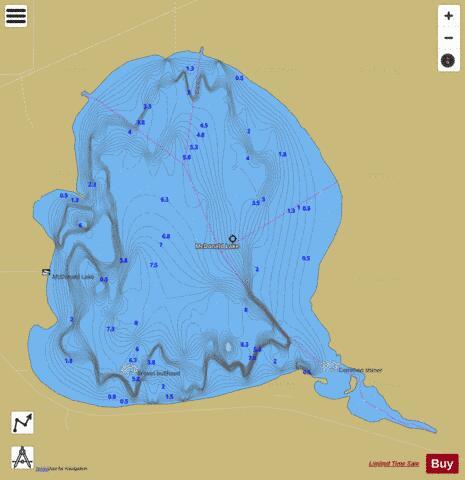 McDonald Lake Fishing Map USMI Nautical Charts App - Map ever mcdonalds in the us
