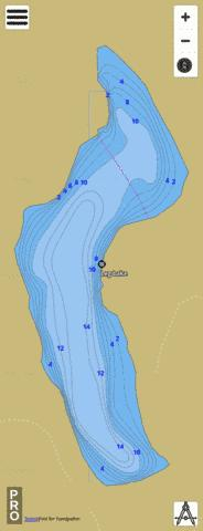 Leg Lake Fishing Map - i-Boating App