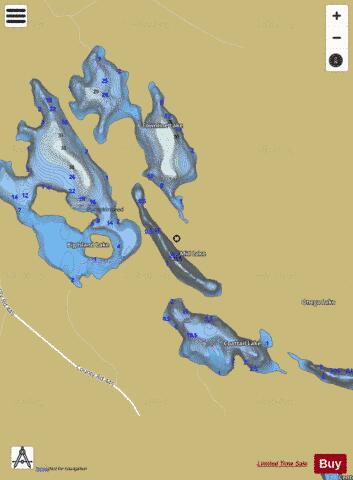 Mid Lake Fishing Map - i-Boating App